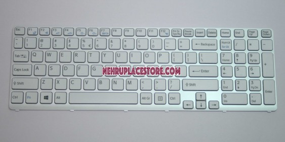 SONY SVE151 Series White Frame Keyboard V133830BS3UI3A 149167911USX 90.4XW07.108