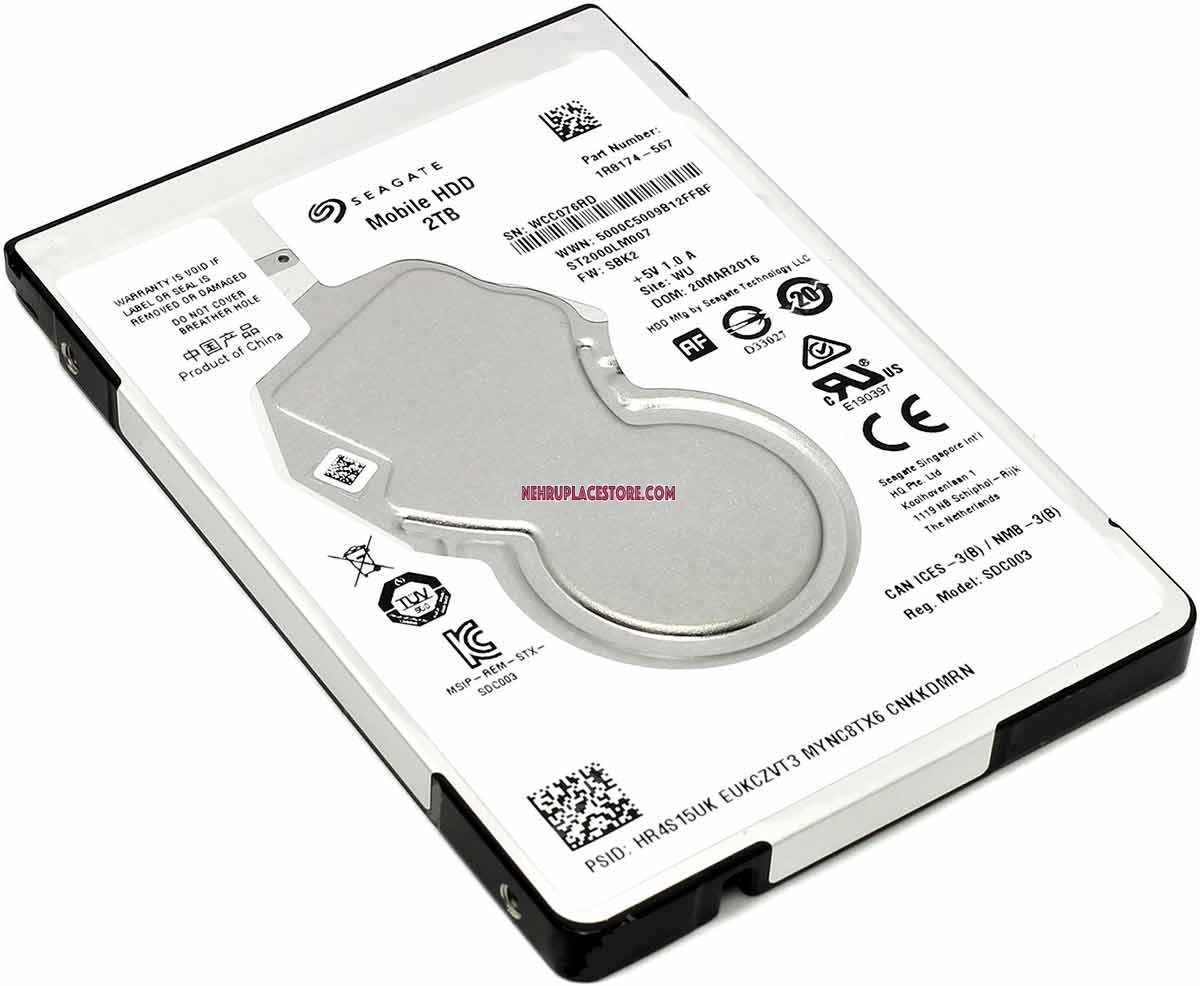 2TB 25 Laptop Internal Hard Disk Drive Seagate