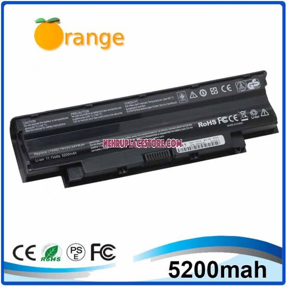 Orange Laptop Battery for Dell Inspiron N5010 5200 mAh 58Wh