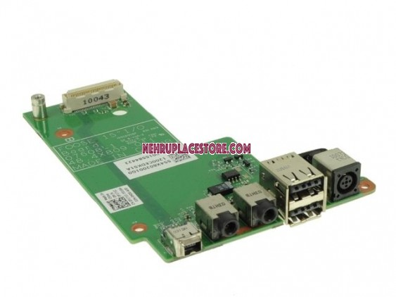 Dell Latitude E5500 DC Power Jack USB Audio Board 0F171C, 48.4X809.011