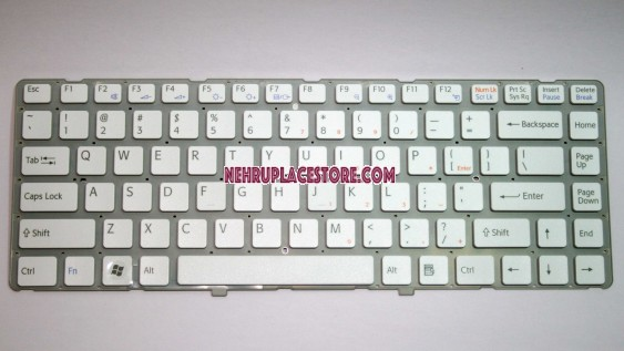 New laptop keyboard for Sony VGN-NW100 vgn nw vgn-nw 148738711 White keyboard MP-08J93US-8861