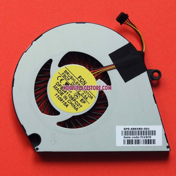 Hp envy sleekbook 4 / 6 series Laptop Cpu Cooling fan 686580-001