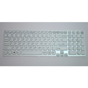 SONY SVE151 Series White Frame Keyboard V133830BS3UI3A 149167911USX 90.4XW07.108